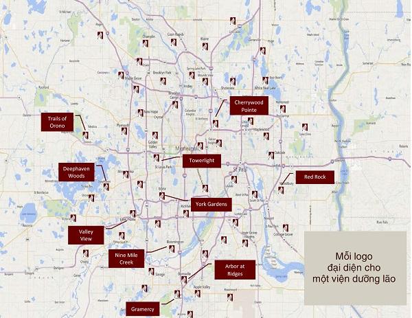 Bản đồ của viện dưỡng lão Headwaters Development