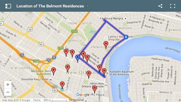 Vị trí của khu chung cư Belmont trên bản đồ