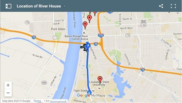 Vị trí của nhà ven sông trên bản đồ
